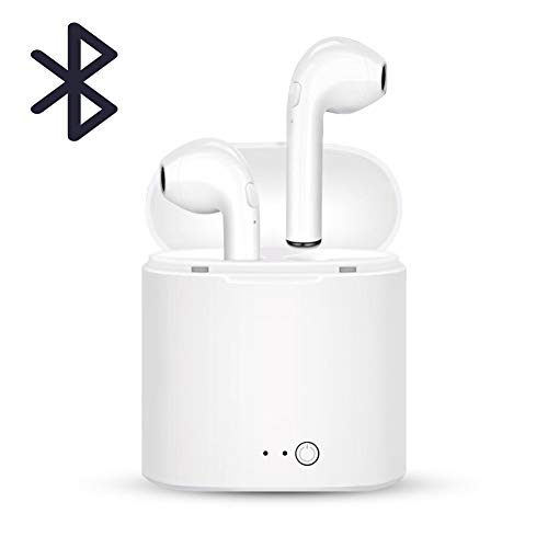 Panamela Bluetooth Headphones, Wireless Earbuds, Stereo in-Ear Earpieces Compatible All Smart Phone (White)