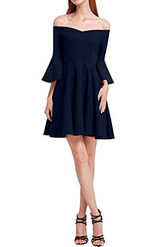 Modern Ivydressing Promkleid U Damen Chiffon Navyblau A Ausschnitt Festkleid Linie Abendkleid Partykleid ZZCqw5