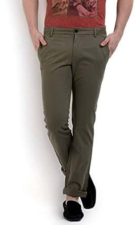 Terrain Grey Slim Fit Trousers Pant For Men