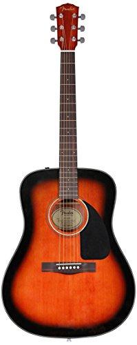 Fender Beginner Acoustic Guitar CD-60 - Sunburst - Dreadnought - With Case