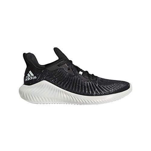 adidas Alphabounce+ Parley Running Shoe, Black/Linen Green/White, 8.5 M US