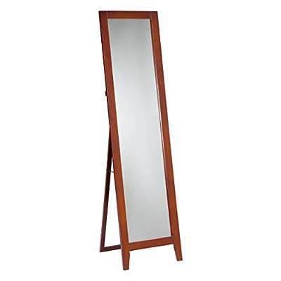 Pilaster Designs - Brown Finish Wood Frame Floor Standing Mirror -  - mirrors-bedroom-decor, bedroom-decor, bedroom - 31VUCIrIppL. SS400  -