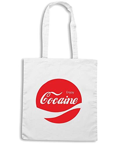 Borsa Shopper Bianca ENJOY0041 ENJOY COCAINE