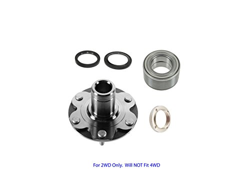 2WD Toyota 4Runner 4 Runner Sequoia Tundra Tacoma Front Wheel Hub Wheel Bearing Kit Left or Right For 2WD Only. Will NOT Fit 4WD; With Seals