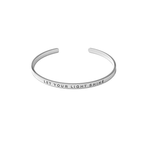 Remember Him Christian Bracelet | Scripture Let Your Light Shine | Crafted from Tarnish Resistant Silver Material | Adjustable for All Wrist Sizes | Suitable for Men and Women