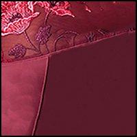9f8a462e9f Elila Glamour Satin   Embroidery Underwire Bra (2021) 46H Burgundy ...