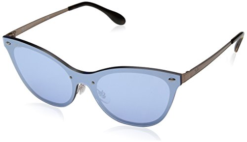 Ray-Ban Women's Steel Woman Non-Polarized Iridium Cateye Sunglasses, Light Blue, 43 - Ban Ray Blaze Collection