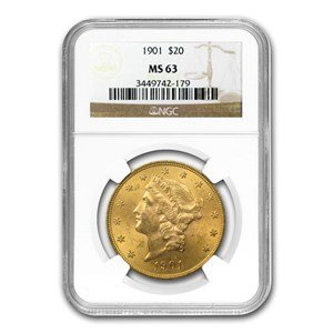 1901 Liberty Double Eagle $20 MS63 NGC