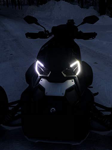 [해외]LED DRL 머리 빛은 수-Am Ryker를 위한 주간 실행 램프 장비를 스트립 합니다 / LED DRL Head Light Strips Daytime Running Lamps Kit for Can-Am Ryker
