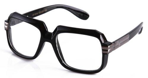 [Newbee Fashion® - IG 80's RUN DMC Old School Rapper Hip Hop DJ Glasses] (80s Fashion For Men)