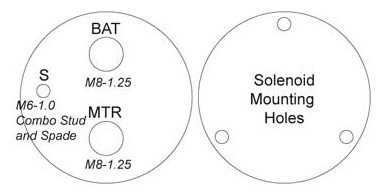 NEW STARTER SOLENOID FITS JOHN DEERE TRACTOR G100 G110 L130 LX266 2509808S 2509809 SDR6157 66-157 66157