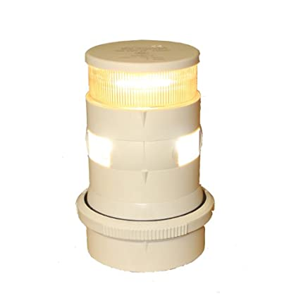 Image of Aqua Signal Masthead/Anchor LED Navigation Light with White Housing Electrical Equipment