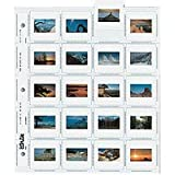 Print File 35mm Slide Pages Holds Twenty 2x2'' Mounted Transparencies, Top Loading, Pack of 100