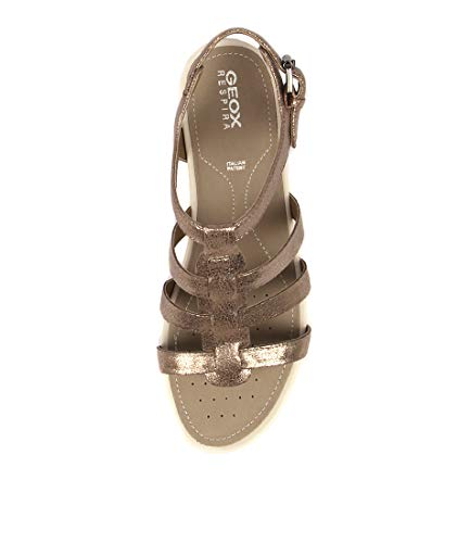 Womens A LEAD Sandals Flat GEOX Summer Vega Lead Sandals MICROFIBER Sandal IwW1BnqFA