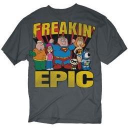 Family Guy Superman Freakin Epic T-Shirt, M