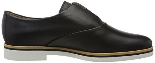 Geox D Janalee F, Zapatos de Cordones Oxford para Mujer Negro (BLACKC9999)