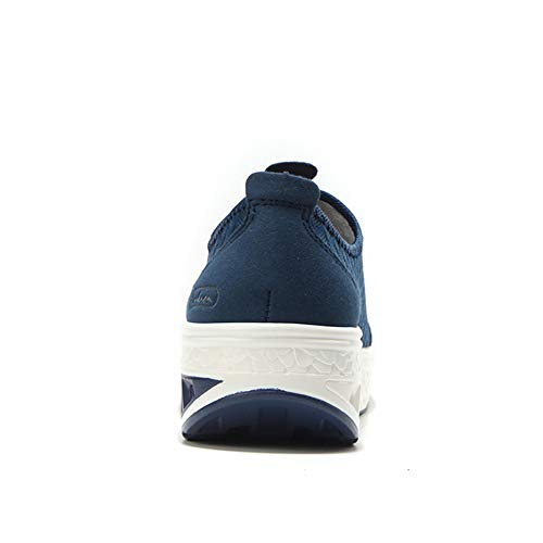 Platform Walking On Wedge Sneakers Slip Blue Shoes 7690 Loafers Breathable Casual Lightweight Women's Comfort ZYEN SqEXYX