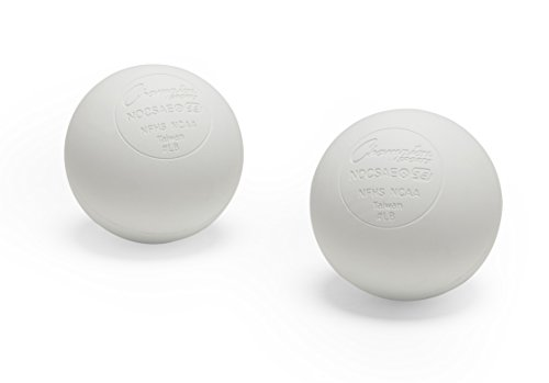 Champion Sports LBW2SET Official Lacrosse Balls Pack of 2, White