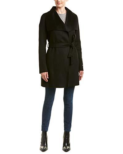 Via Coat Wool Belted (Tahari Womens Ella Wool-Blend Wrap Coat, Xs)