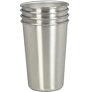 Amazon Com Stainless Steel Cups Set Of 4 16oz Drinking