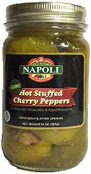 (Napoli - Stuffed Hot Cherry Peppers with Prosciutto & Aged Provolone)