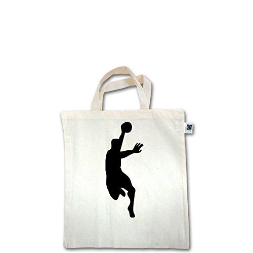 Handball - Handball - Unisize - Natural - XT500 - Fairtrade Henkeltasche / Jutebeutel mit kurzen Henkeln aus Bio-Baumwolle
