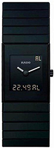 Rado Men's R21854152 Ceramica Ceramic Swiss Quartz Black Dial Watch