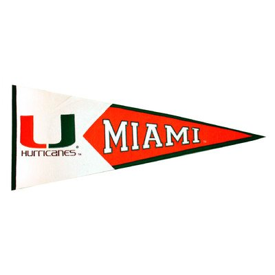 NCAA Miami Hurricanes Large Pennant