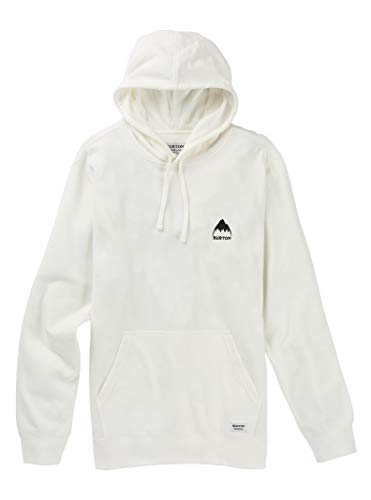 Burton Men's Classic Mountain High Pullover Hoodie, Stout White, Large