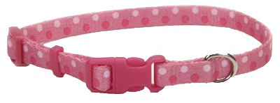 Coastal Pet 06402 A PDT18 Adjustable Collar, 5/8-Inch, Pink Bone