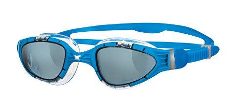 Zoggs Aqua Flex–getönte Lunettes de natation L.Smoke/Blue