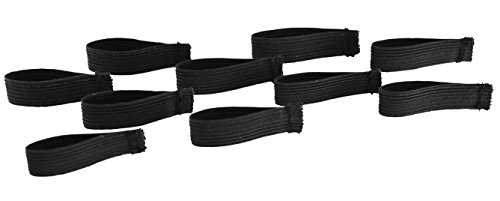 "Bulk Packed Police/Fire/EMS Mourning Bands For Service Badges (Assorted Styles) (10 Black 1/2"" Mourning Bands For Badges)"