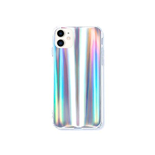 HolaStar Case for iPhone 11/XI, Rainbow Holographic Pattern Gradient Iridescent Effect Slim Thin Fit Cover