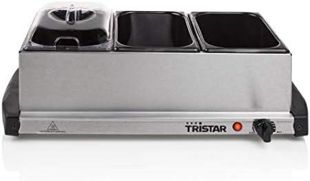 Tristar BP-2979 Scaldavivande con 3 piccole teglie, in acciaio INOX