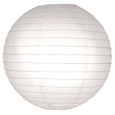 Perfectmaze 12 Piece 20'' (Inch) White Round Chinese Paper Lantern for Wedding Party Engagement Decoration