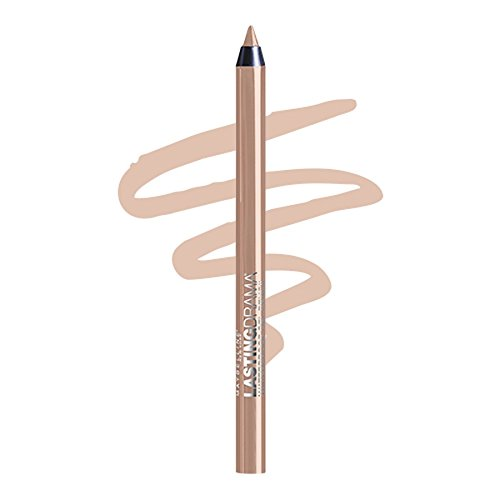 Maybelline New York Eyestudio Lasting Drama Waterproof Gel Pencil, Soft Nude, 0.037 - Nude Nude Nude