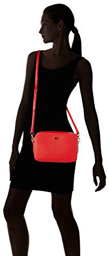 Lacoste NF2068CE, Borsa a Tracolla Donna, 16 x 5.5 x 24 cm Red Alto Rischio (High Risk Red)