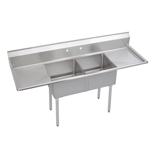 8in Drainboards - Elkay Foodservice 2 Compartment Sink, 72