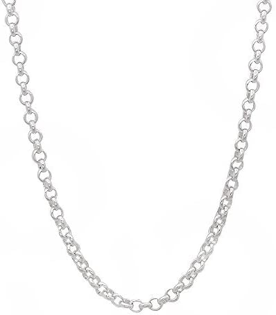 925 Sterling Silver Rolo Circle Chain 1.8 mm.20 inches