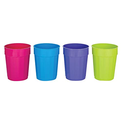 B & R Plastics Inc FC22-4-24 Cups 22 Oz Set of 4 Plastic, colors may vary