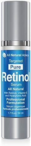 All Natural Advice Retinol Serum with Hyaluronic Acid Canadian Made Organic Moisturizing Hydrator with Anti-Ag