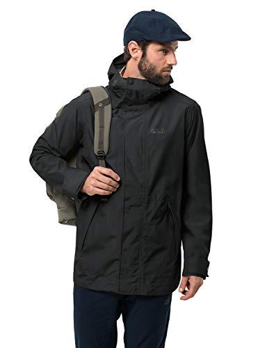 Jack Wolfskin Men's Cape Conran Men's Recycled Lightweight Waterproof Jacket,Black ,Large ()