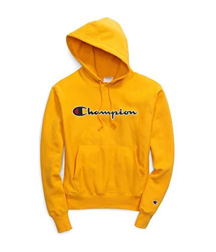 Champion Life Men's Reverse Weave Chainstitch Script Pullover Hoodie (C Gold, X-Large) ()
