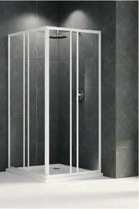 Mampara de ducha Riviera A2 acceso ángulo cristal 3 mm profile ...