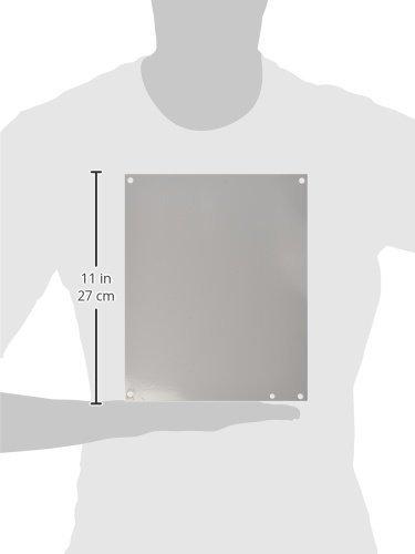 Hoffman A12N10P Panel, NEMA 1, Steel, 10.25'' x 8.25'', Fits 12'' x 10'', White by Hoffman (Image #2)