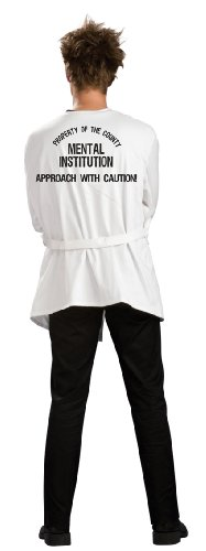 Rubie's Men's Insane Asylum Straightjacket, White, Standard