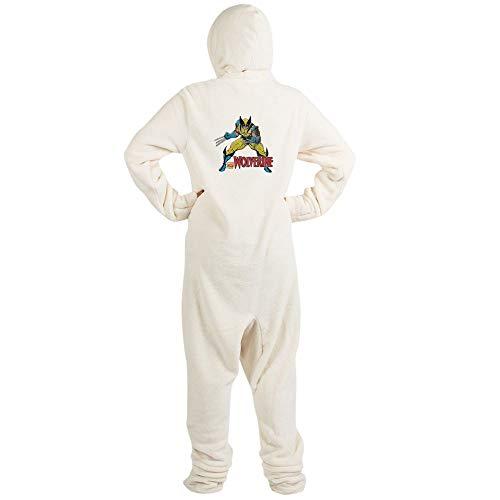 CafePress Vintage Wolverine Novelty Footed Pajamas, Funny Adult One-Piece PJ Sleepwear Creme -