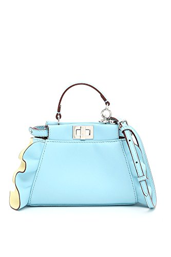 Fendi Shoulder 8m0355s3zf06mz Mcf clear Blue Bag Woman Leather nwCP4qC7