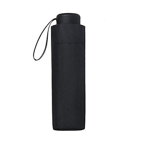 Vicloon Mini Paraguas Pequeño del Sol,Paraguas de Viaje Portátil Resistente Anti UV Plegable Longitud 17cm 6 Costillas Grueso Negro Tela de Goma,para ...