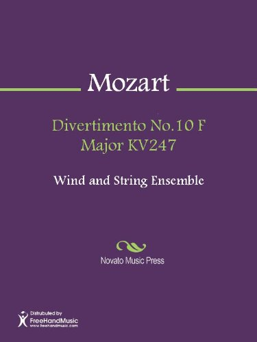Divertimento No.10 F Major KV247 - Horn in F 2